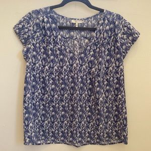 Joie silky shirt sleeved blouse Sz M